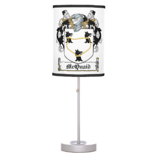 McQuaid Family Crest Table Lamps