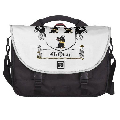 McQuay Family Crest Laptop Messenger Bag