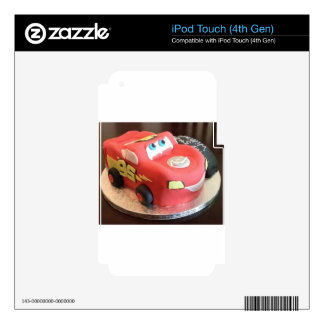 McQueen car cake Decals For iPod Touch 4G