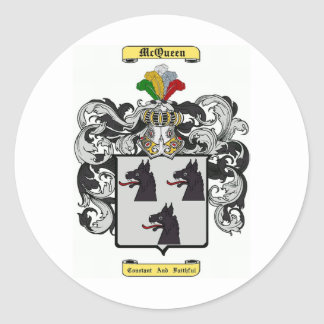 McQueen Classic Round Sticker