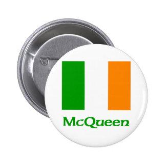 McQueen Irish Flag Pinback Button