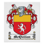 McQuillan Family Crest Print