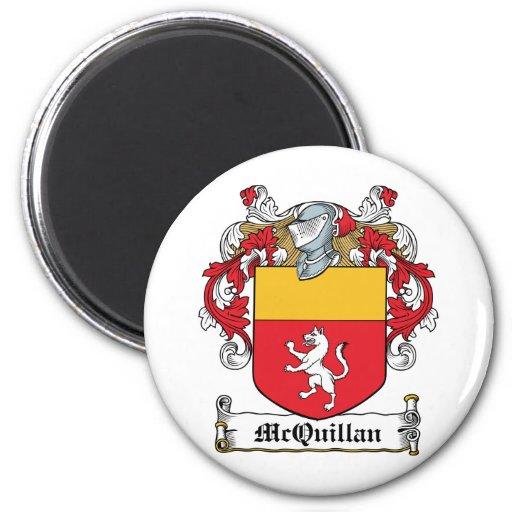 McQuillan Family Crest Refrigerator Magnet