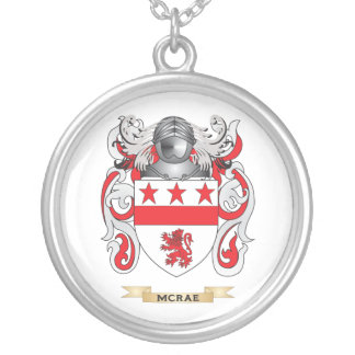 McRae Coat of Arms (Family Crest) Silver Plated Necklace