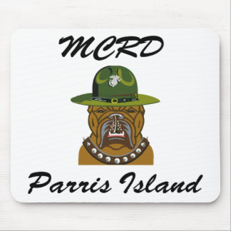 MCRD Parris Island Devil Dog Mouse Pad