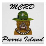 MCRD Parris Island Devil Dog Poster