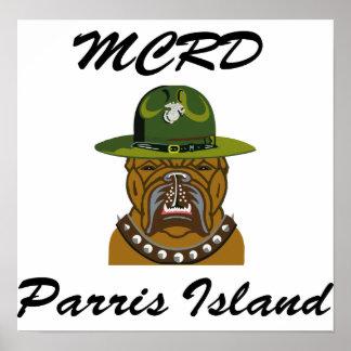 MCRD Parris Island Devil Dog Print
