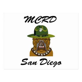 MCRD San Diego Devil Dog Postcard