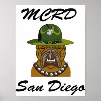 MCRD San Diego Devil Dog Print