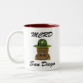 MCRD San Diego Devil Dog Two-Tone Coffee Mug