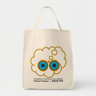 MCS Exhaust Gasses = Brain Fog Tote Bags