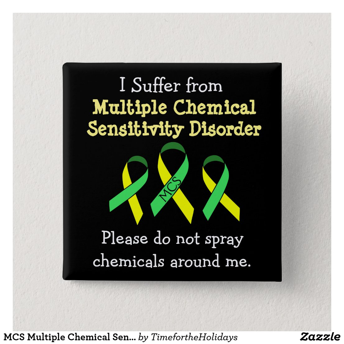 MCS Multiple Chemical Sensitivity Button