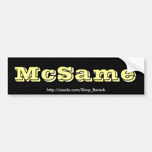 McSame McCain Pegatina Para Auto