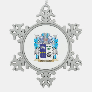 Mcsheehy Coat of Arms - Family Crest Snowflake Pewter Christmas Ornament