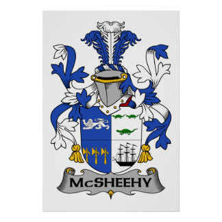 McSheehy Family Crest Poster
