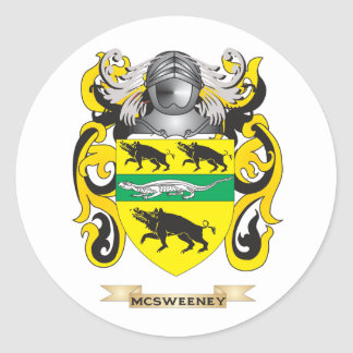 McSweeney Coat of Arms Family Crest Stickers