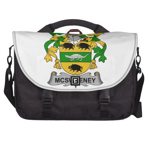 McSweeney Family Crest Laptop Messenger Bag