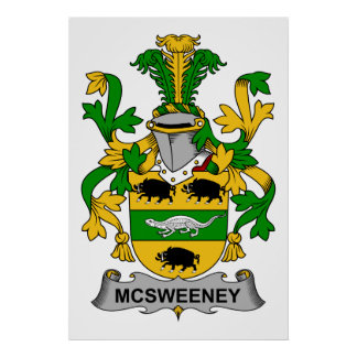 McSweeney Family Crest Poster