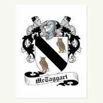 McTaggart Family Crest Postcard