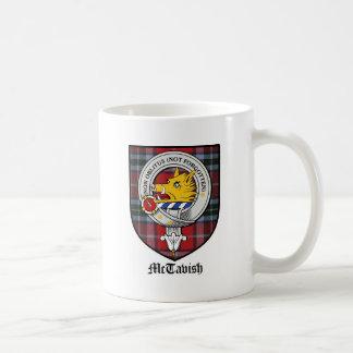 McTavish Clan Crest Badge Tartan Coffee Mug