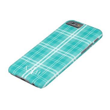 Christmas Themed McTiffany Aqua Blue Tartan Scottish Plaid Barely There iPhone 6 Case
