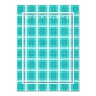 Christmas Themed McTiffany Aqua Blue Tartan Scottish Plaid Card