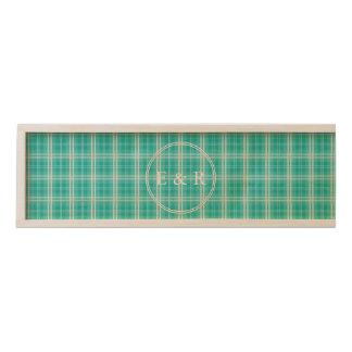 McTiffany Aqua Blue Tartan Scottish Plaid Wooden Keepsake Box