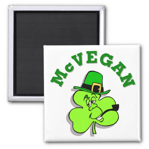 McVegan Funny St. Patrick's Day Magnet
