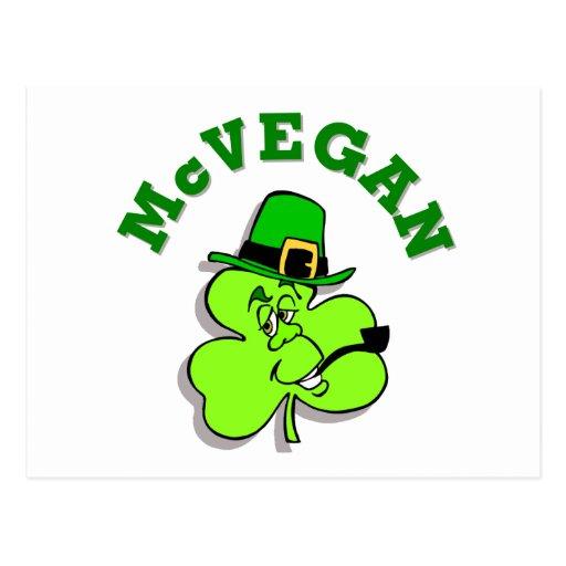 McVegan Funny St. Patrick's Day Postcards