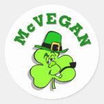 McVegan Funny St. Patrick's Day Stickers