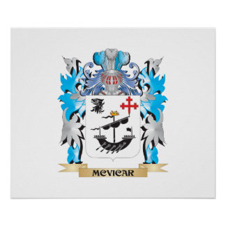 Mcvicar Coat of Arms - Family Crest Poster
