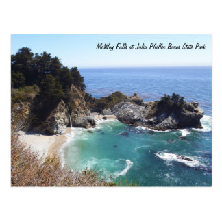 McWay Falls at Julia Pfeiffer Burns State Park Postcard
