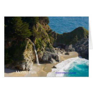 McWay Falls Big Sur California Products Card