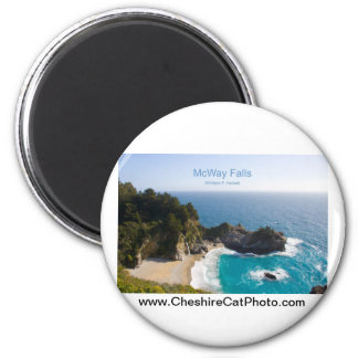 McWay Falls Big Sur California Products 2 Inch Round Magnet