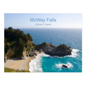 McWay Falls Big Sur California Products Postcard