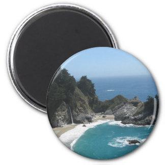 McWay Falls- Big Sur 2 Inch Round Magnet