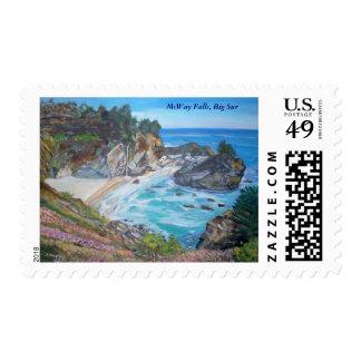 McWay Falls, Big Sur - Stamps