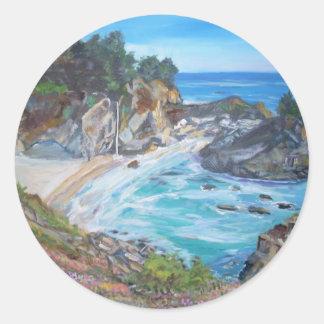 McWay Falls, Big Sur - Round Sticker