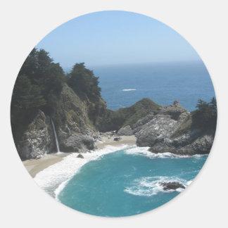 McWay Falls- Big Sur Classic Round Sticker