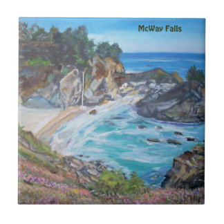 McWay Falls, Big Sur -Tiles Small Square Tile