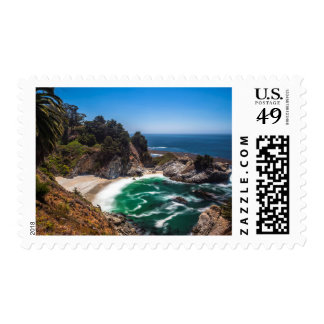 Mcway Falls in Julia Pfeiffer Burns state park Stamp