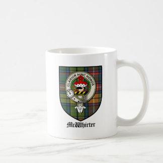 McWhirter Clan Crest Badge Tartan Coffee Mug