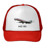 MD80.jpg CLEAN, MD 80 Trucker Hats