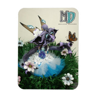 """MD Alina Butterfly Dragon 3"""" x 4"""" Photo Magnet"""