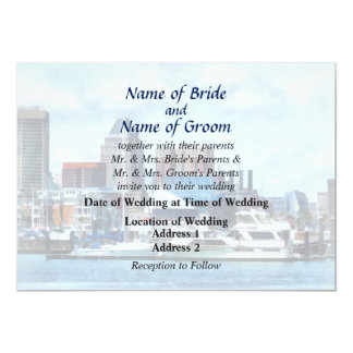 MD - Baltimore Skyline and Harbor Wedding Products Card