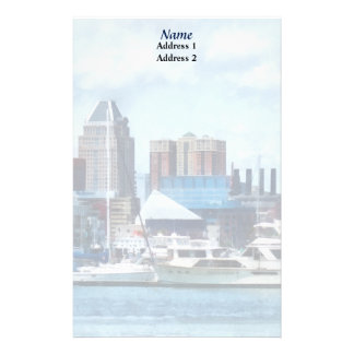 MD - Baltimore Skyline and Harbor Wedding Products Stationery