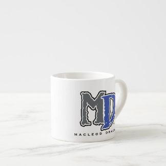 MD Blue Logo Expresso Mug 6 Oz Ceramic Espresso Cup