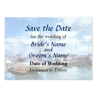 MD  - Boat Basin Fells Point Save the Date Card