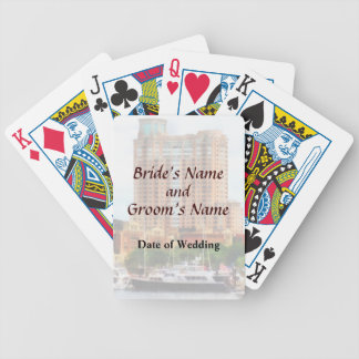 MD - Boats at Inner Harbor Wedding Products Bicycle Playing Cards