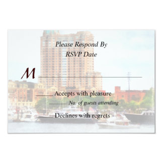 MD - Boats at Inner Harbor Wedding Products Card